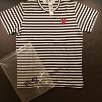 cc DCCK3 CDG Comme des Garcons Play Stripped Tee