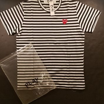 cc DCCK2 CDG Comme des Garcons Play Stripped Tee