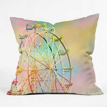 Shannon Clark Ferris Wheel Fun Throw Pillow
