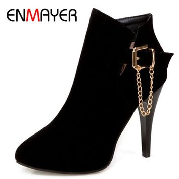 Womens Boots Zippers Western Ankle Boots High Heels