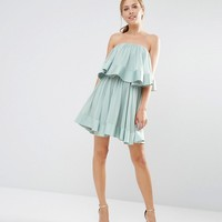 Keepsake Ruffle Mini Dress at asos.com