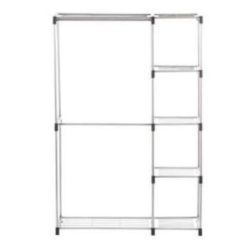 Whitmor Supreme Garment/Closet Collection 45.37 in. x 68 in. Double Rod Closet Shelves