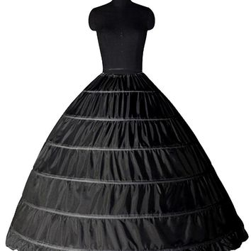 Black Six Hoop Petticoat