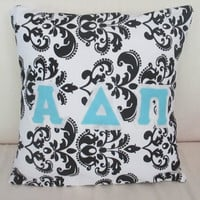 Sorority Letter Throw Pillowcase