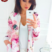 Autumn and winter New fashion multicolor long sleeve coat women