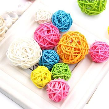 Rattan DIY Spake Tarawa Balls Wedding Party Decoration