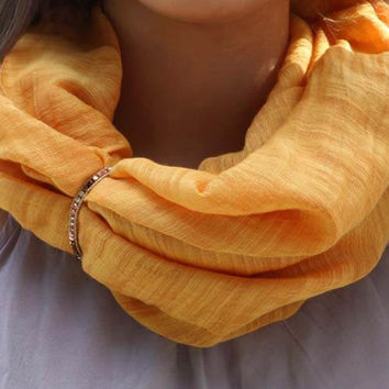 Butterscotch Scarf Cuff
