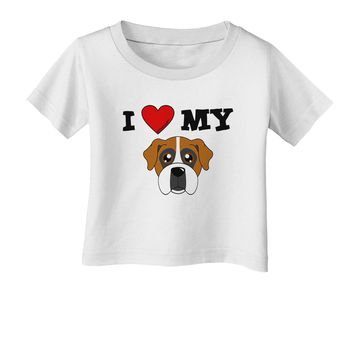 I Heart My - Cute Boxer Dog Infant T-Shirt by TooLoud