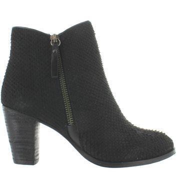 MIA Maddock - Black Snake Leather Dual Zip Short Bootie