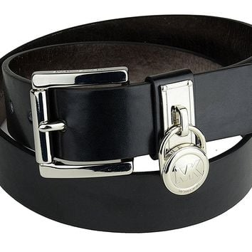 Michael Kors Women's Hamilton Lock Belt 553350 Black Size Small