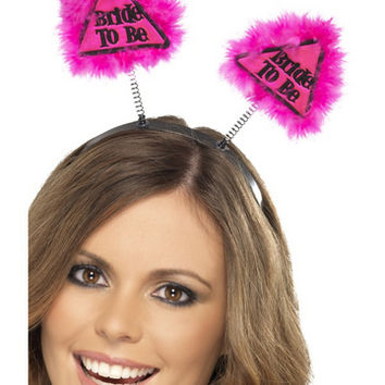 Fever Lingerie Bride To Be Warning Boppers   Pink