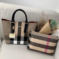 Burberry 2019 new luxury high-end women's shopping bag handbag two-piece #2
