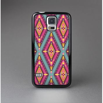 The Pink & Teal Abstract Mirrored Design Skin-Sert Case for the Samsung Galaxy S5