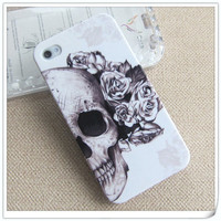 Unique Skull with Rose Style iPhone 4/4s Case from 1Point99.com