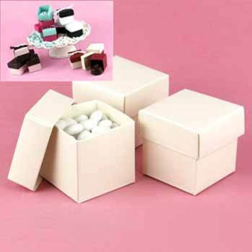 Two-Piece Favor Boxes- Ivory Shimmer