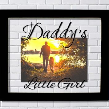 Daddy's Little Girl Floating Picture Frame - Father Gift Father's Day Dad Dada Present