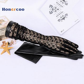 spring and summer womens sunscreen  gloves fashion sexy  lace driving gloves fishnet gloves long gloves free shipping