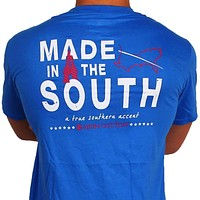 """""""Made in the South"""" Pocket Tee in Boardwalk Blue by High Cotton"""