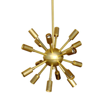 Golden Mini Sputnik Chandelier