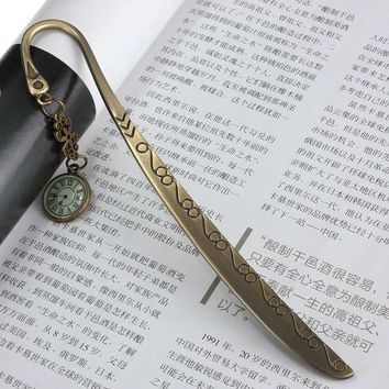 Romantic Design Retro Vintage Metal Alloy Bronze Bookmark Document Book Mark Label DIY Fit For Gift School Office Decor