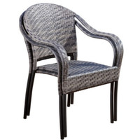 Coastal Outdoor Wicker Chairs Set Of Two Stylish Patio Furniture Brown Finish