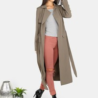 Olive Trench Duster Coat