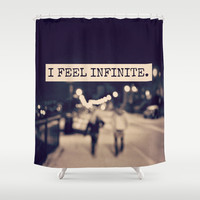 I Feel Infinite Shower Curtain by Caleb Troy