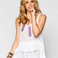 Patrons Of Peace Womens Layered Cami White  In Sizes