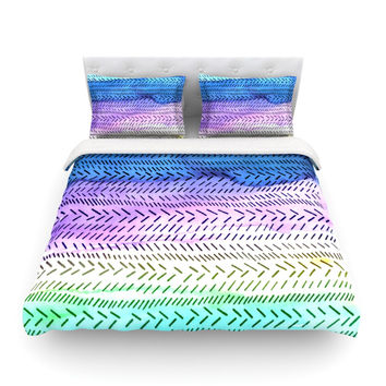 "Sreetama Ray ""Aqua"" Cool Paint Featherweight Duvet Cover"