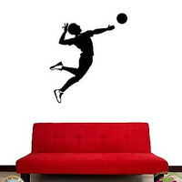 Wall Stickers Vinyl Volleyball Player Sport For Living Room (z1643)
