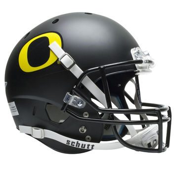 Oregon Ducks NCAA Replica Air XP Full Size Helmet (Alternate Black w- GD Decal 3)