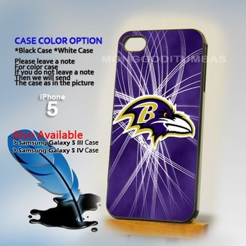 Baltimore Ravens logo, Photo Hard Plastic iPhone 5 Case Cover