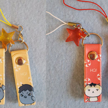 Haikyuu!! Karasuno and Nekoma Double Sided Mini Straps