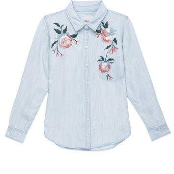 Chandler - Vintage Wash Floral Embroidery