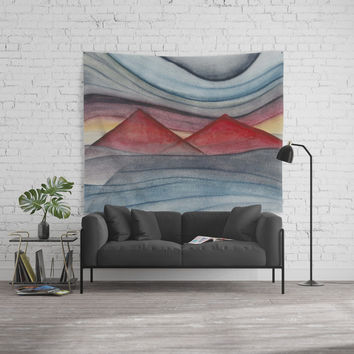 Geometric landscapes 06 Wall Tapestry by marcogonzalez