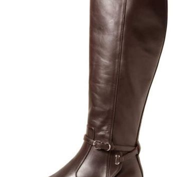 balenciaga papier leather buckled knee high riding boot 2