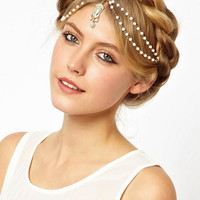Beaded Layer Pendant Headband