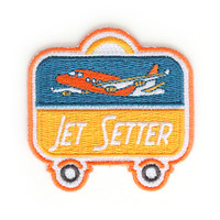 Jet Setter Iron On Patch by ZipperTeethShop on Etsy