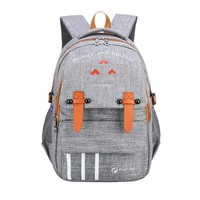 Waterproof Canvas Letter Printing School Bags Backpacks For Teenagers Satchel Fashion Women/men Rucksack Bag Pack
