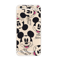 Disney Mickey Mouse iPhone 6s 6 Plus Transparent Clear Soft Case