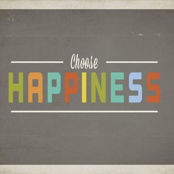 "Kid's Wall Art ""Choose Happiness"" 14x11 Print for Boys, Girls, Teen's, Baby's Room"