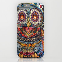 Magic graphic owl painting iPhone & iPod Case by Oxana Zaika