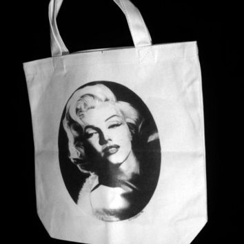 Marilyn Monroe 13 x 13 Canvas tote bag by noirclassics on Etsy