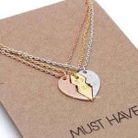 best bitches necklace, best bitches, frienship necklace, best friend necklace, heart necklace