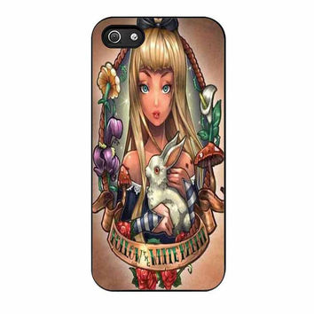 princess alice in wonderland disney old school cases for iphone se 5 5s 5c 4 4s 6 6s plus
