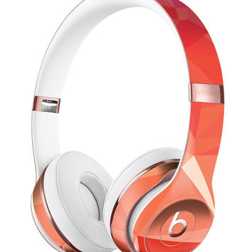 Orange Geometric V17 Full-Body Skin Kit for the Beats by Dre Solo 3 Wireless Headphones