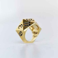 Han Cholo Dice Ring- Gold