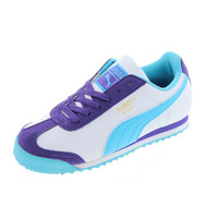 Puma Girls Roma Flower Colorblock Casual Shoes