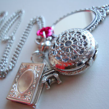 Beauty and the Beast Pocket Watch Necklace by BaillieDay on Etsy