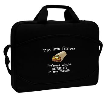 """I'm Into Fitness Burrito Funny 15"""" Dark Laptop / Tablet Case Bag by TooLoud"""